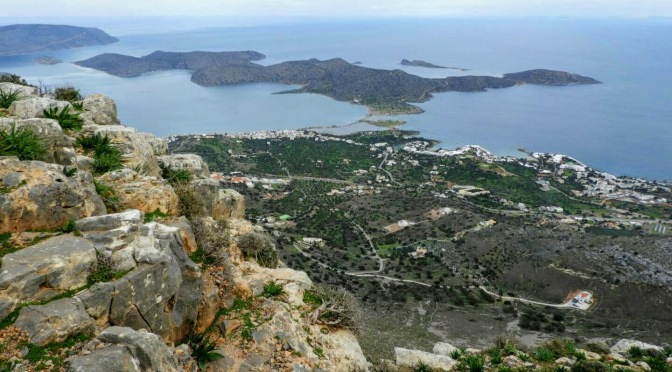 Elounda seen from Mount Oxa