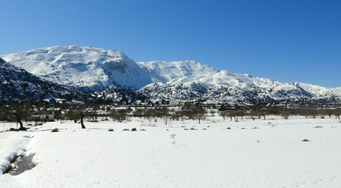 Kritsa Alps – Katharo in the snow