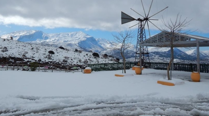 More snow, this time on Lassithi